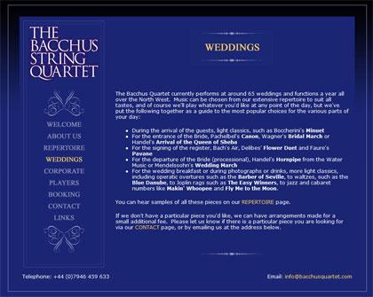 The Bacchus Quartet website