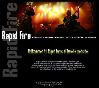 Rapid Fire: a heavy metal band from Norway