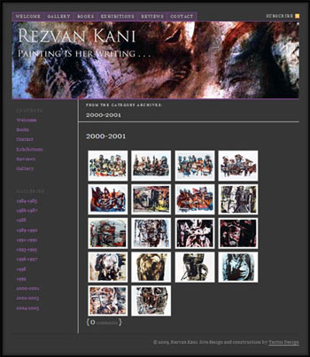 Our latest website, in four languages, for Andorran artist, Rezvan Kani. Click to visit the website.